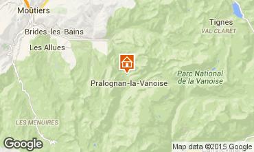 Kaart Pralognan la Vanoise Chalet 44318