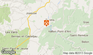 Kaart Vallon-Pont-D'Arc Stacaravan 98278