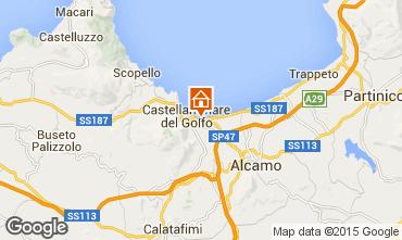 Kaart Castellammare del Golfo Appartement 67566
