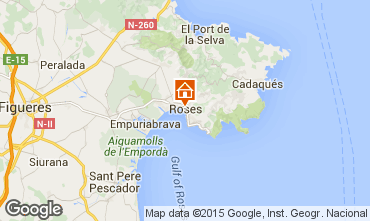 Kaart Rosas Appartement 76045