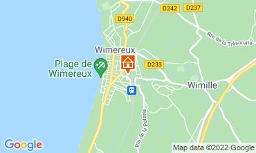 Kaart Wimereux Appartement 108853