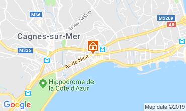 Kaart Cagnes sur Mer Appartement 119644