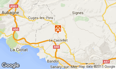Kaart Le Castellet Villa 79364