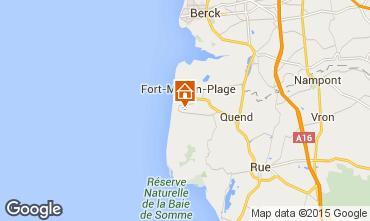 Kaart Quend Plage (strand) Stacaravan 95348