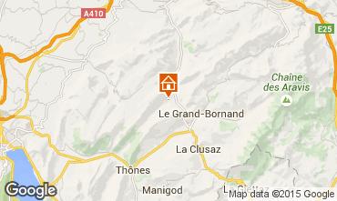 Kaart La Clusaz Chalet 72056