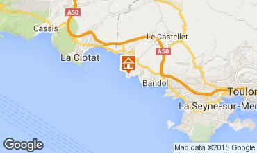Kaart Bandol Villa 8651