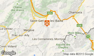 Kaart Saint-Gervais-les-Bains Chalet 2571
