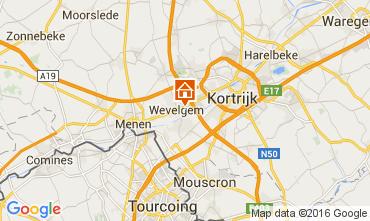 Kaart Kortrijk Vakantiehuis 80282