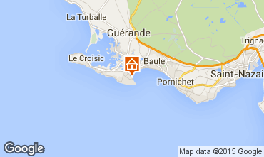 Kaart Le Pouliguen Huis 7217