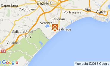 Kaart Valras-Plage (strand) Huis 103952