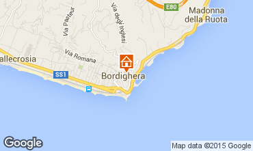 Kaart Bordighera Appartement 79637
