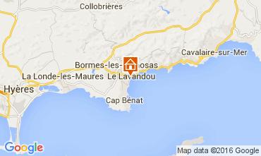 Kaart Le Lavandou Studio 105610