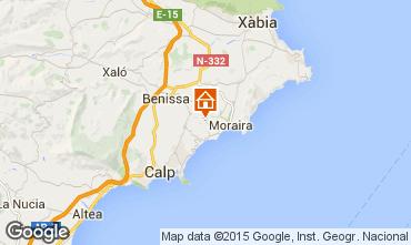 Kaart Moraira Villa 87365
