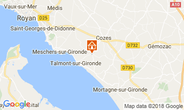 Kaart Saint Georges de Didonne Huis 114590