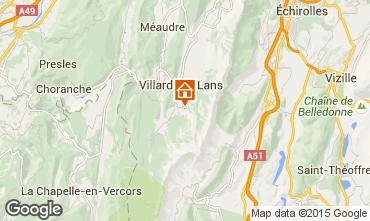 Kaart Villard de Lans - Corrençon en Vercors Appartement 3662
