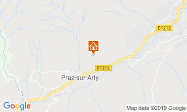 Kaart Praz sur Arly Chalet 2301