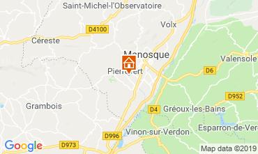 Kaart Manosque Villa 119002