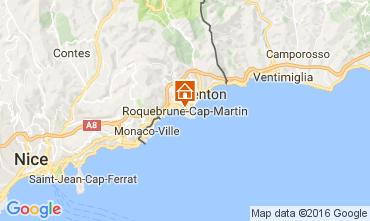Kaart Roquebrune Cap Martin Studio 94016