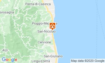 Kaart Moriani Plage (strand) Appartement 75346
