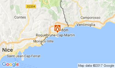 Kaart Roquebrune Cap Martin Studio 112751