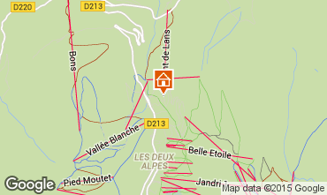 Kaart Les 2 Alpes Appartement 1242