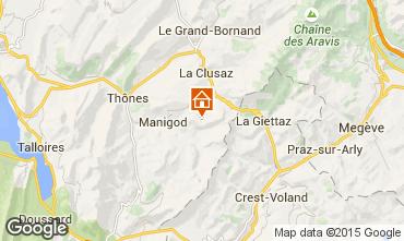 Kaart Manigod-Croix Fry/L'étale-Merdassier Appartement 17198