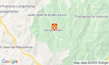 Kaart Les Menuires Studio 15243