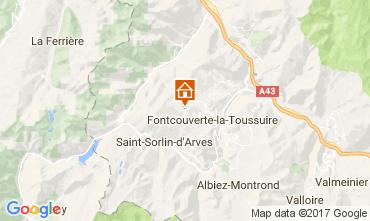 Kaart La Toussuire Appartement 107625