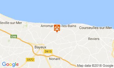 Kaart Arromanches Vakantiehuis 102250