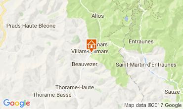 Kaart Val d'Allos Chalet 3208