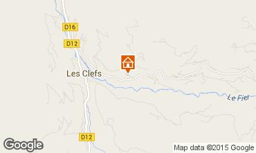 Kaart Manigod-Croix Fry/L'étale-Merdassier Chalet 27781