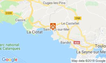Kaart Saint Cyr sur Mer Villa 118107