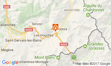 Kaart Chamonix Mont-Blanc Appartement 647