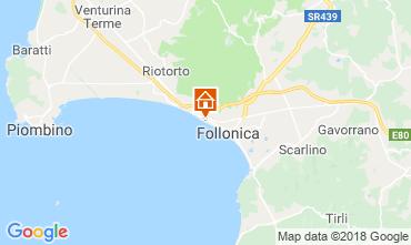 Kaart Follonica Appartement 116727