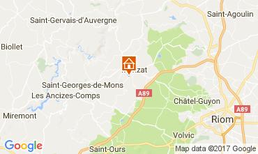 Kaart Chatel-Guyon Vakantiehuis 108589