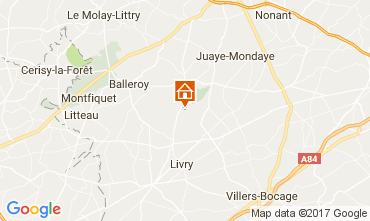 Kaart Bayeux Stacaravan 13330