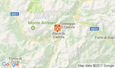 Kaart Cortina d'Ampezzo Appartement 105108