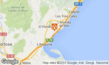 Kaart La Ametlla de Mar Studio 102805