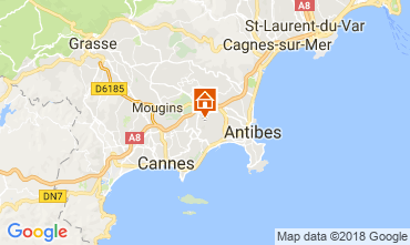 Kaart Antibes Studio 113744