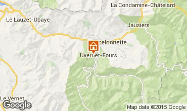 Kaart Pra Loup Chalet 41298