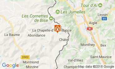 Kaart La Chapelle d'Abondance Chalet 61959