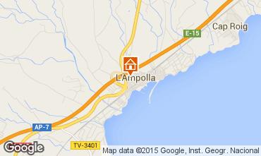 Kaart L'Ampolla Appartement 55620