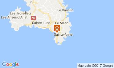 Kaart Sainte Anne (Martinique) Bungalow 110816