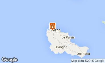 Kaart Sauzon Vakantiehuis 27025