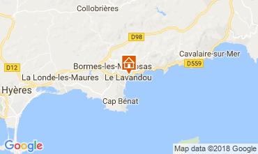 Kaart Le Lavandou Appartement 113832