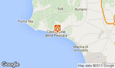 Kaart Castiglione della Pescaia Appartement 71855