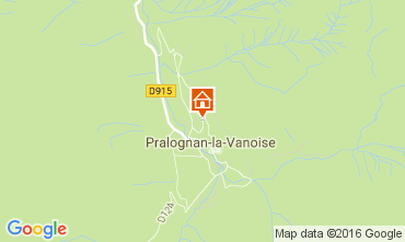 Kaart Pralognan la Vanoise Chalet 106385