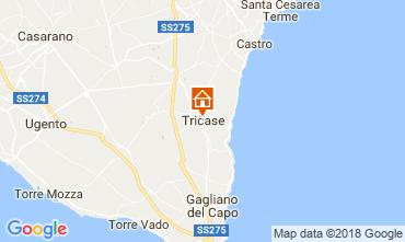 Kaart Santa Maria di Leuca Appartement 55406
