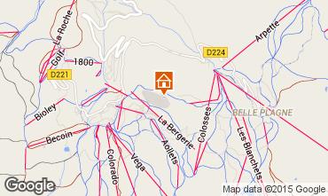 Kaart La Plagne Chalet 58607