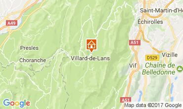 Kaart Villard de Lans - Corrençon en Vercors Appartement 112217